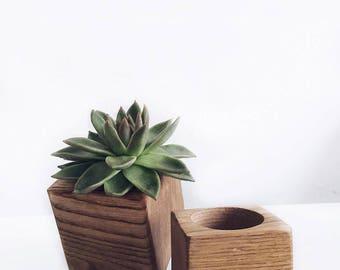 Geometric Wood Planter
