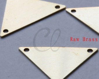 20 Pieces Raw Brass Triangle Link - 16x25mm (2005C-F-503)