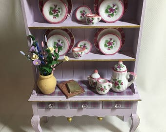 Dolls House Miniatures - Purple Dresser