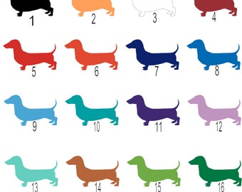 ON SALE | Solid Color Dachshund Decals