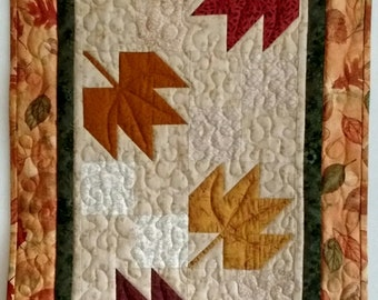 Autumn Leaves Quilted Table Runner