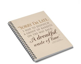 Ilyon Chronicles Prince Daniel Bandits Quote Spiral Notebook  Ruled Line