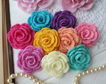 Crochet roses 9(pcs)