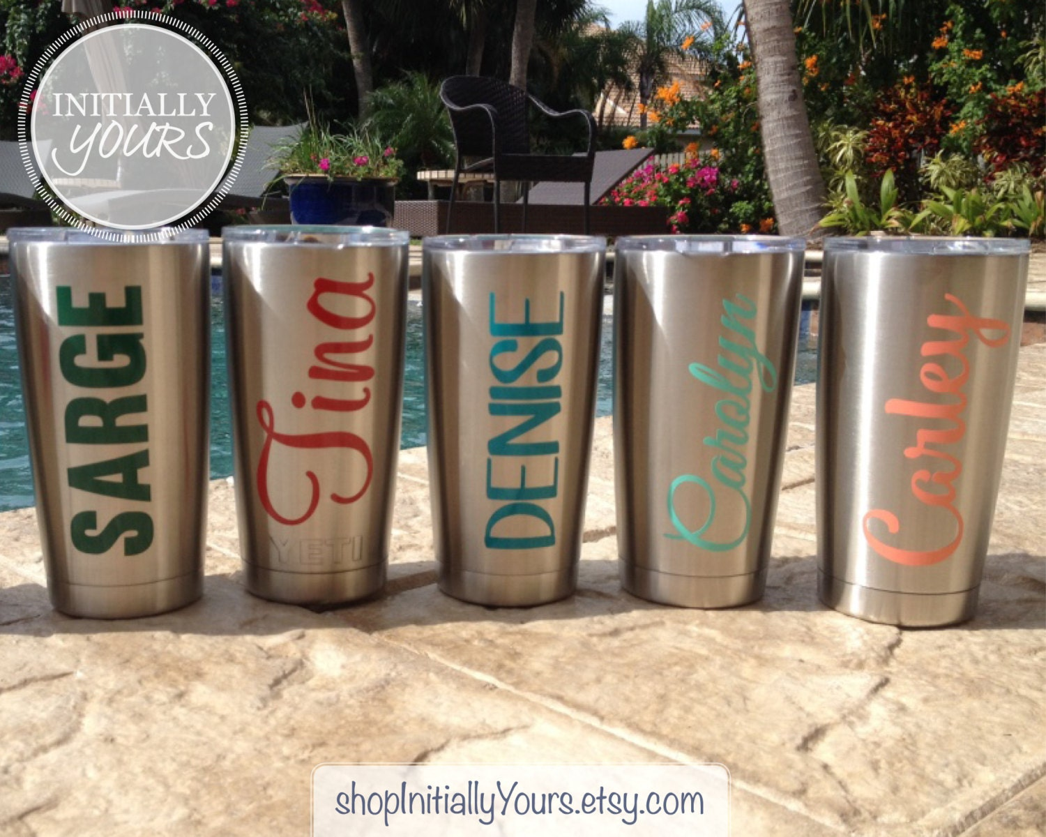 Personalized Decal For Yeti Custom Name Vinyl Stickers For