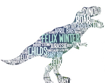Custom Dinosaur Text Art