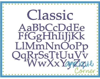 INSTANT DOWLOAD Classic Monogram Font bx, jef, dst and pes only digital design for embroidery machine by Applique Corner