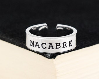 Macabre Ring - Halloween - Horror - Goth - Aluminum Ring