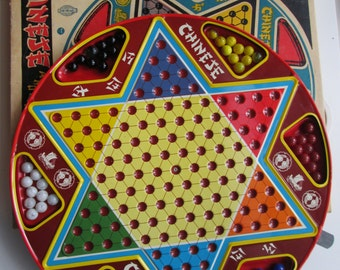 Vintage Ohio art Chinese checkers set in original box 1970's large size