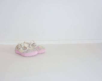 Vintage Flower Baby Shoes