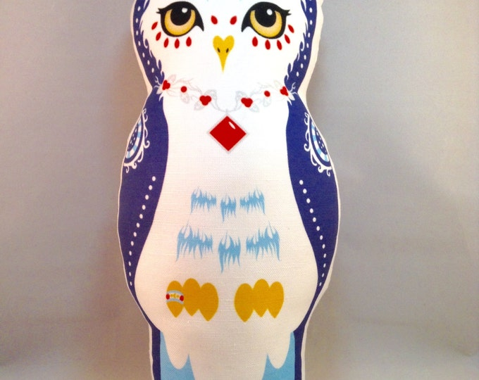 Owl Doll Pillow - Blue Oberon Owl