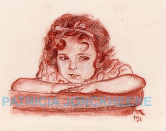 Shirley Temple - Blood Portrait