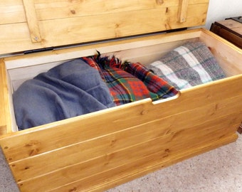 Large blanket box, choice of colours, made to order.