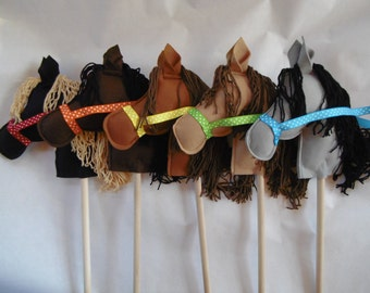 Stick Ponies, Stick Pony, Stick Horse, Stick Horses, Horse Party Favors, Party Stick Ponies, Party Horses, Child's Stick Horse or Pony