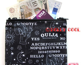 Ouija Board Zipper Pouch by Dolly Cool Halloween Horror B Movie Self Designed Fabric Occult Witch Dark Arts