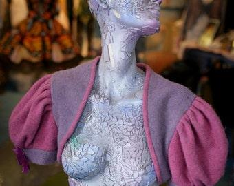 Tweed hand dyed shrug