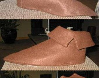 Peter Pan or 7 Dwarfs brown pointed shoes with cuffs (SHOE COVERS)  Finish off your Costume in comfort!
