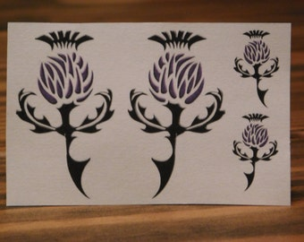 Temporary Tattoo/Thistle Tattoo/Celtic Thistle Tattoo/Custom Tattoo/Miniature Tattoos