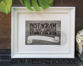 Wedding Sign /Instant Printable Photo Booth Sign // Rustic // PhotoBooth 5x7, 8x10 // DIY // DOWNLOAD // Burned Wood / Instagram