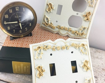 MCM Gold and White Outlet and Switch Plates