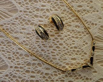 Vintage Nina Ricci Necklace and Earrings Set...Nina Ricci Demi Parure