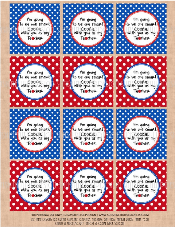 Printable teacher appreciation gift tags printable one smart negle Image collections
