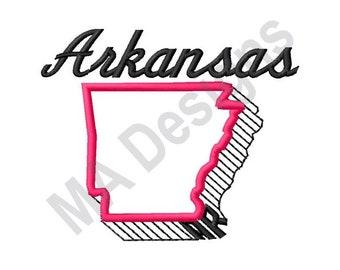 Arkansas - Machine Embroidery Design