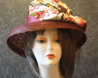 Brown Kentucky Derby Hat, Derby Hat, Garden Party Hat, Tea Party Hat, Easter Hat, Church Hat, Wedding Hat, Downton Abbey Brown Hat 765