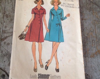 Vintage Simplicity Sewing Pattern 5912 Misses' Size 40 Bust 44 Coat Dress