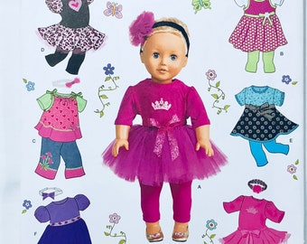 "Simplicity 1711 18"" Doll Clothes - Great for American Girl Dolls!"