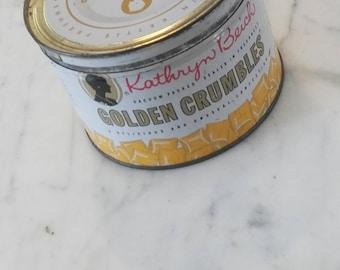 Rare Antique Katheryn Beich Golden Crumbles Candy Tin