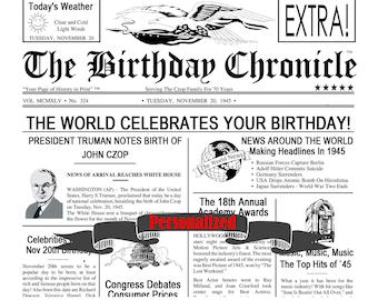 40th Birthday, 40th Birthday Gifts, 40th Birthday Newsprint, 40 Birthday Gifts, Forty Birthday, Banner, Sign, Decoration 8 X 10 DIGITAL JPG