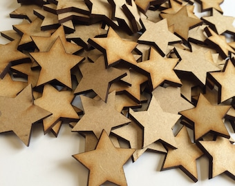 10x20mm Wooden Stars, Blank Stars, Wooden Shapes, Blank Shapes, Toy Box, MDF Stars, Plain Stars, Star Shapes, Family Tree Christmas