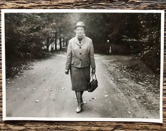 Original Vintage Photograph | A Walk in the Park