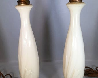 Alacite Boudoir Lamps by Aladdin - Pair (Lily of the Valley)