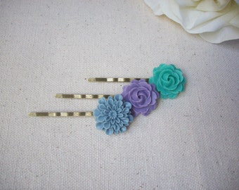 Flower hairpins,bobby pins,hairpins children,shabby chic hairpins,young girl,teens hair accessories,shabby chic bobby pins,Minimalist