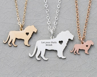 Leo Gift Zodiac Necklace Lion Jewelry Leo Charm Lion Sterling Silver Leo Necklace Jungle Animal Sign African Animal Charm Mother's Day Gift