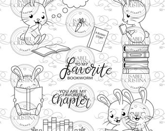 Reading bunnies - IsabelCristinaStamps