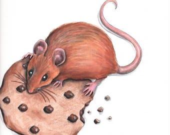 Cookie Mouse - Original Illustration