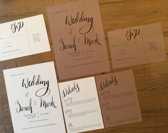 Calligraphy Wedding Invitation set