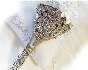 Bouquet Holder,Rhinestone Crystal Bouquet