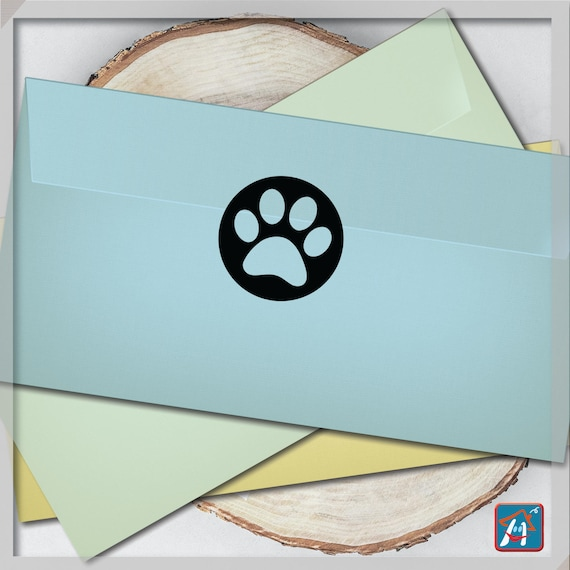Dog paw stickers 40 paw print stickers party label envelope seals paw planner stickers birthday paw stickers dog love sticker from
