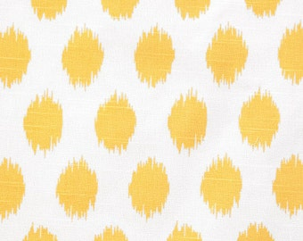 Yellow and White Ikat Curtains JoJo  Rod Pocket  63 72 84 90 96 108 or 120 Long by 24 or 50 Wide