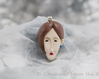 """Polymer Clay Pendant """"Inspired by Amedeo Modigliani"""""""
