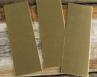 """Red Brass Sheet 16ga 2"""" x 6"""" 1.30mm Thick (Pkg of 3)  (BS16-2)"""