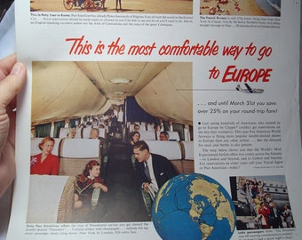 1948 Fortune Magazine Ad for Pan American Airlines.