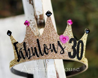 30birthday crown,woman birthday crown,birthday lettering Crown,Birthday Crown,black and gold crown,Adult birthday crown,30 birthday party