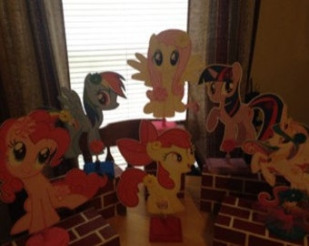 My Little Pony Centerpieces Set Of 6
