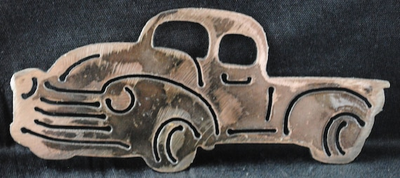 Old Style Chevy, Wall Hanging, Magnet, Chevy Truck Art, Toolbox Magnet, Refrigerator Magnet, Chevy Memorabilia, Gift for Boy, Automotive Art