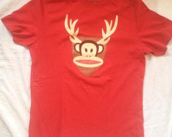 Paul Frank Original Merchandise Red T-Shirt Large W/Monkey Horned Image
