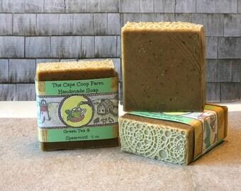 Green Tea & Spearmint Handmade Soap
